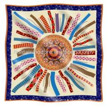Echarpe en soie Classique Meilleure vente Style Foulard en soie à rouleau à main