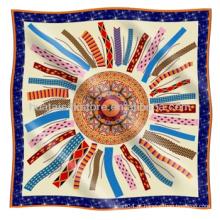 Lenço de seda clássico melhor vender estilo mão rolo lenço de seda