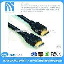Hdmi-Stecker auf weibliches Kabel 1.5m überträgt Daten mit bis zu 10.2GB / s, die brillante Displays auf Ihrem Fernseher produzieren