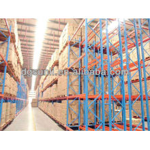 Logística de equipamentos pesados armazenamento duplo profunda palete