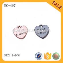 MC497 forma de corazón de encargo colgante de la joyería con el logotipo de la marca