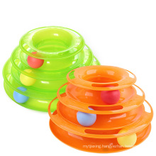 3-layer plastic Tower of Tracks Cat Toy CT1001