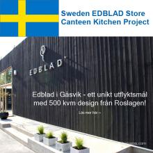 Suède EDBLAD Store Canteen Kitchen Project