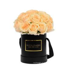 Boîte à fleurs estampée à chaud personnalisée avec poignée