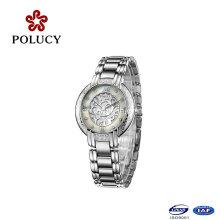 2016 New Lady Design en acier inoxydable 3ATM résistant à l'eau montre à quartz