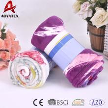 2017 novos produtos design personalizado impresso cobertor de lã coral