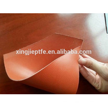 1.5mm cor vermelha ambos os lados de borracha de silicone revestido pano de fibra de vidro