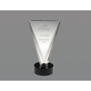 Victory award with black base
