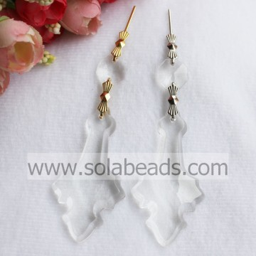 Holiday Decoration 32*63mm Acrylic Lighting garland Drop