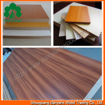 High Quality MDF Board with Melamine Paper