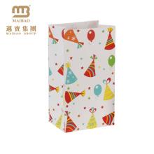 Atacado Barato Personalizado Pequeno Goodie Feliz Aniversário Favor de Papel Presente Sacos De Papel Para As Crianças