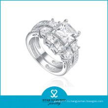Имитационное серебро с бриллиантовым кольцом (SH-R0179)