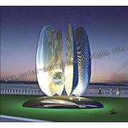 Aço inoxidável luz luz de escultura-pérola
