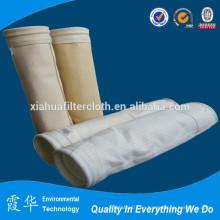 Bolsa de filtro de fibra de aramida en la industria del acero