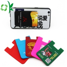 Adhesive Printed Cell Phone Sticker Silikon Card Holder