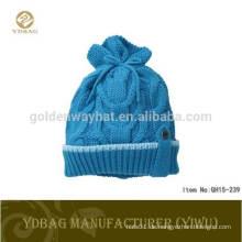 Großhandel Custom Patch Cap Hut Acryl Beanie Winter Hut strickte lange Beanie Hut