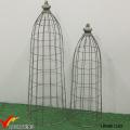Set 2 Tall Rustic Grau Metall Wire Mesh Dome für Pflanzer