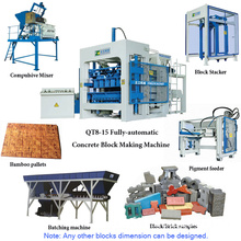 Qt8-15 Fully-Automatic Concrete Block Machine