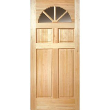 Fan Lite Unfinished Fir Front Door Slab