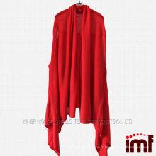 Châle à motifs en poncho tricoté