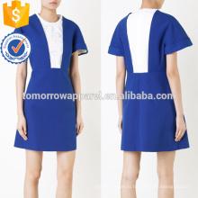 Последний дизайн изящные коротким рукавом синий и белый мини лето платье Производство Оптовая продажа женской одежды (TA0014D)