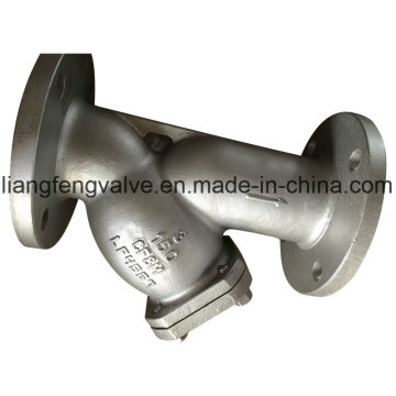 Y Type Strainer with Flanged Ends Stainless Steel