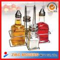 Spice Glass + Oil / Vinegar Bottle Wire Rack