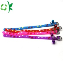 Colorful Dog Silicone Pet Cat Collar with Bell