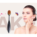 Toothbrush Style Oval Foundation Makeup Brush with Individual Package