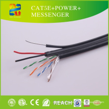 2015 China Heißer Verkauf UTP Kabel Cat5e + Power + Messenger
