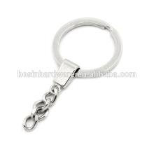 Moda de alta qualidade Metal Flat Split Ring Chaveiro