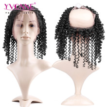 Brésilien Kinky Curly 360 Full Lace Frontale
