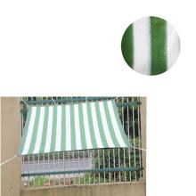 6 stitches green and white sun shade net