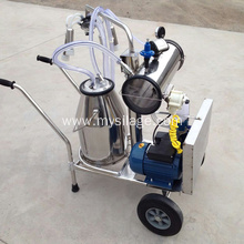 collecting milk milking machine with vacuum pump