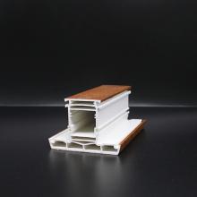 Color de madera de los perfiles de las ventanas abatibles de Upvc