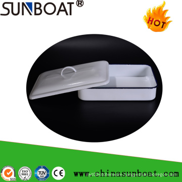 Sunboat Kitchenware/ Kitchen Appliance Enamel Tray Rectangular Plate Enamel Basin Medical Disc Tray