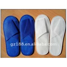 pantoufle jetable de pantoufle unique de tissu de pantoufle de tissu pour l'hôtel de haute qualité et bon marché