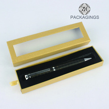 PVC window lid cardboard gift pen set box