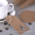 Etiquetas colgantes personalizadas en forma de árbol de papel Kraft Etiquetas de regalo