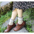 School Style Sweet Girl Cotton Socks Popular Good Looking Shinning Cuff with Bow