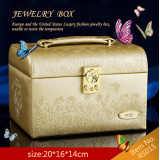 Leather Jewelry Box Travel Case and Lock