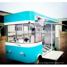 Popular Mobile Crepe Food Carrito comida rápida camión / Van / Cart / Trailer para la venta / Fast Food Cart / Hot Dog Vending Van