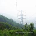 220kv Circuito de doble circuito Transmisión de potencia Torre de tubo de acero