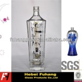 Decal clear glass bottles
