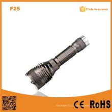 F25 перезаряжаемый защитный Ipx7 водонепроницаемый алюминиевый аккумулятор фонарик