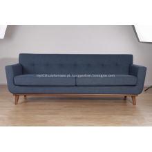 sofá de linho de tecido de linho