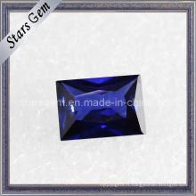 Blue Rectangle Shu Baguette Cut Cubic Zirconia