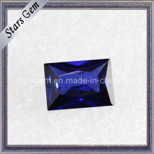 Blue Rectangle Shape Baguette Cut Cubic Zirconia