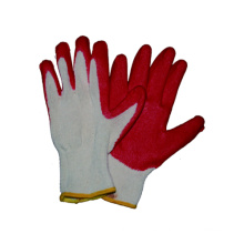 10g T / C Kniteed Liner guante de látex Palm recubierto de acabado liso