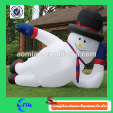 Massive inflatable sprawling snowman giant inflatable snowman christmas decoration for sale